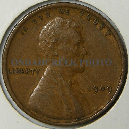 1909 VDB Lincoln Cent Retained Cud Error + WDDR 010