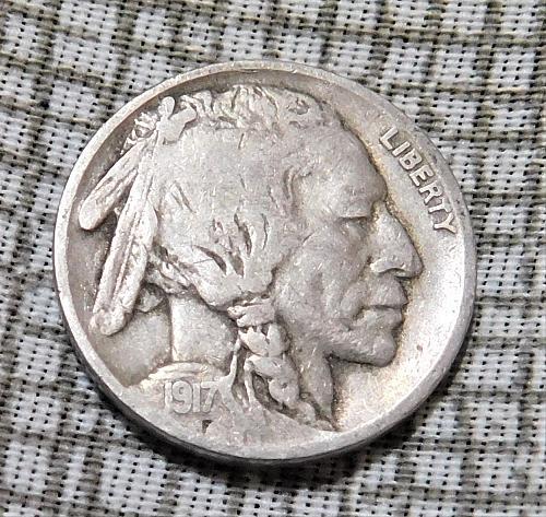 1917 P Buffalo//Indian Head Nickel