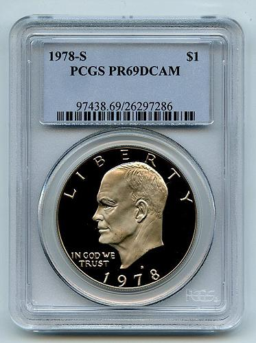 1978 S $1 Ike Eisenhower Dollar Proof PCGS PR69DCAM