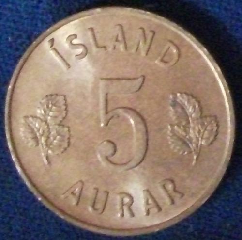 1946 Iceland 5 Aurar UNC