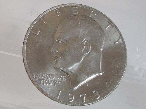 1973 D Eisenhower Dollar