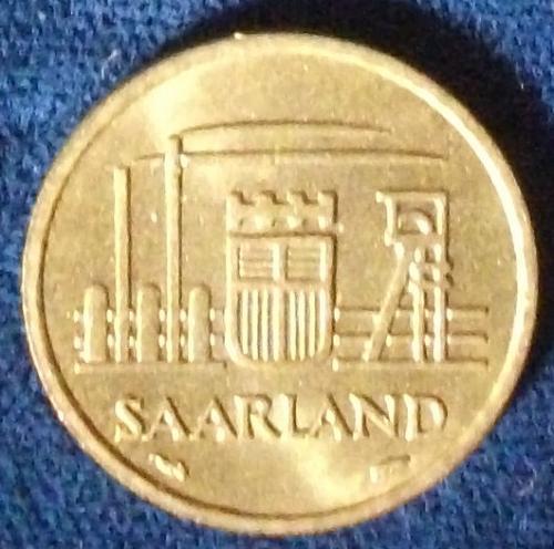1954 Saarland 10 Franken MS-63
