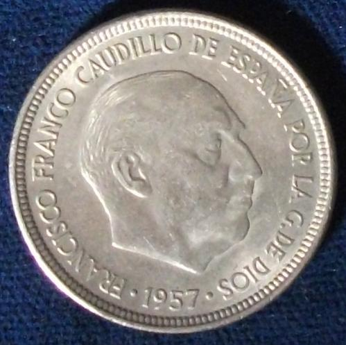 1957(62) Spain 5 Pesetas XF
