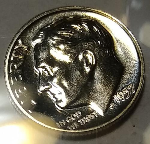 1957 P ROOSEVELT DIME PROOF