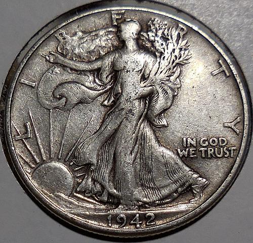 Walking Liberty Half Dollar 1942-P