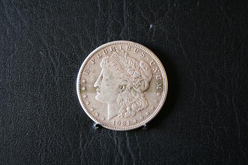1921-S Morgan Silver Dollar 90% silver 98 years old still looking Fine SKU 43HH