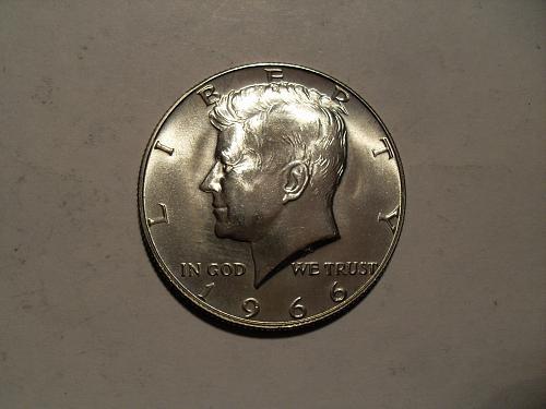 1966-P Kennedy 40% half dollar BU