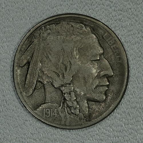 1914-S XF Buffalo Nickel, a nice well detailed example of this tough date