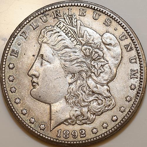 1892 CC Morgan Silver Dollar - AU / Almost Uncirculated - Better Grade