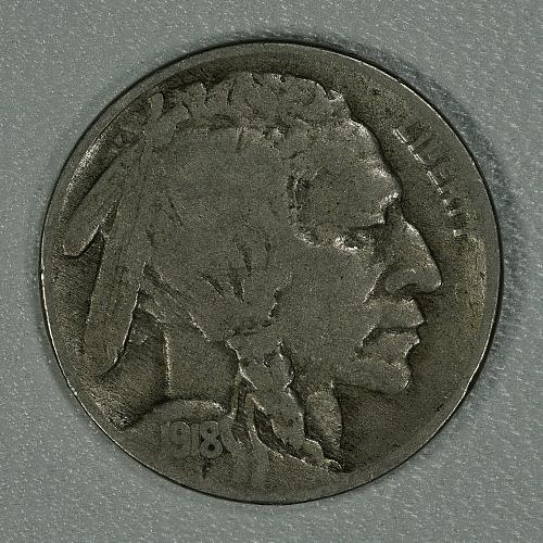 1918-S VG Buffalo Nickel, tough early date with decent detail remaining