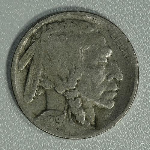 1919-S F-VF Buffalo Nickel, tough early date with a lot of detail remaining