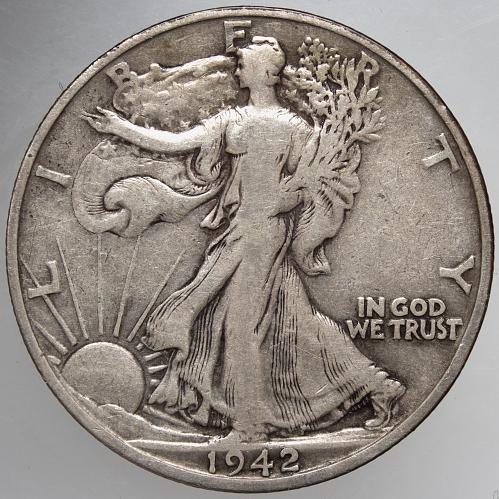1942 S Walking Liberty Half Dollar #7