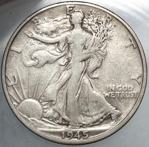1945 D Walking Liberty Half Dollar #4