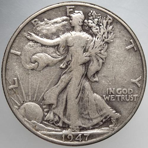 1947 P Walking Liberty Half Dollar #4