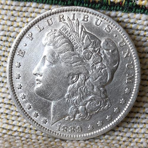 For sale a nice 1889 New Orleans Morgan silver Dollar