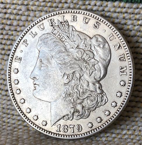 For sale a nice 1879 Philadelphia Morgan silver Dollar