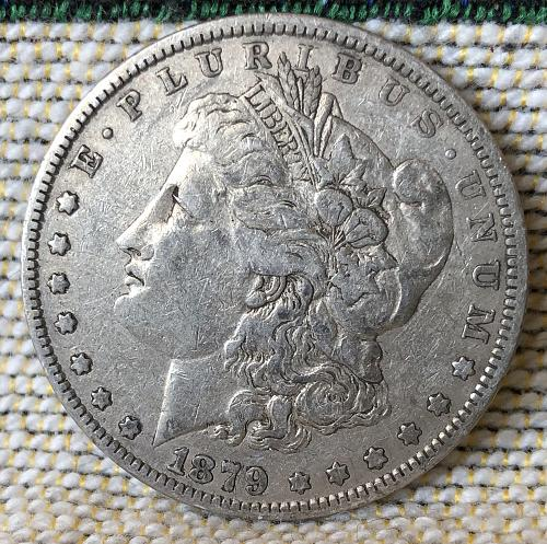 For sale a 1879 Philadelphia Morgan silver Dollar