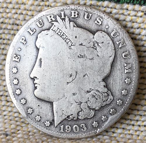 A Key date 1903 San Francisco Morgan silver Dollar