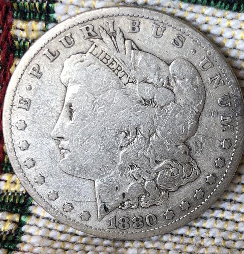 For sale a 1880 Philadelphia Morgan silver Dollar