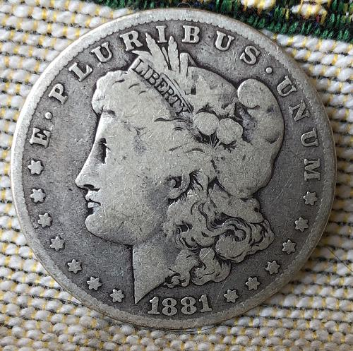 For sale a 1881 Philadelphia Morgan silver Dollar