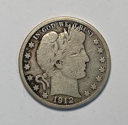 1912-D Barber Half Dollar VG [BH 25]