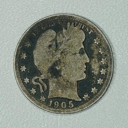 1905-S G+ Barber Quarter Dollar, scarcer San Fran issue