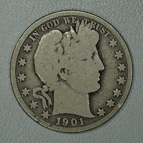 1901-S G+ Barber Half Dollar, a very scarce San Fran issue