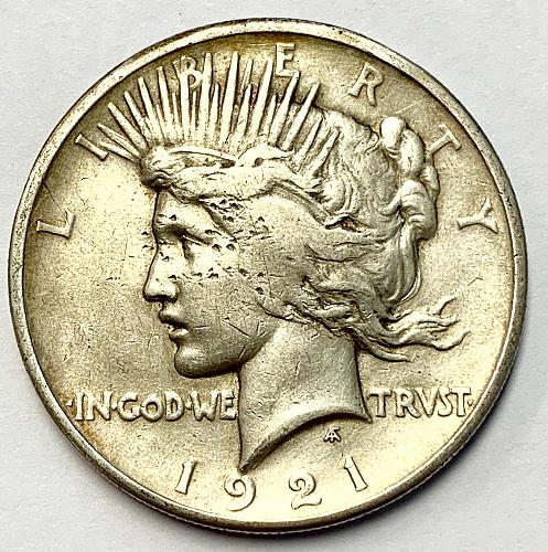 1921 Peace Dollar - Cleaned