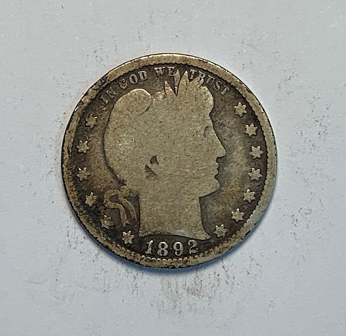 1892 Barber Quarter [BSWQ 37]