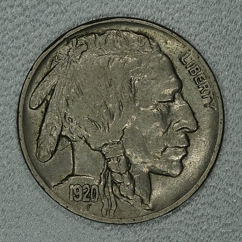 1920 Choice XF Buffalo Nickel, nice original coin with full detail remaining