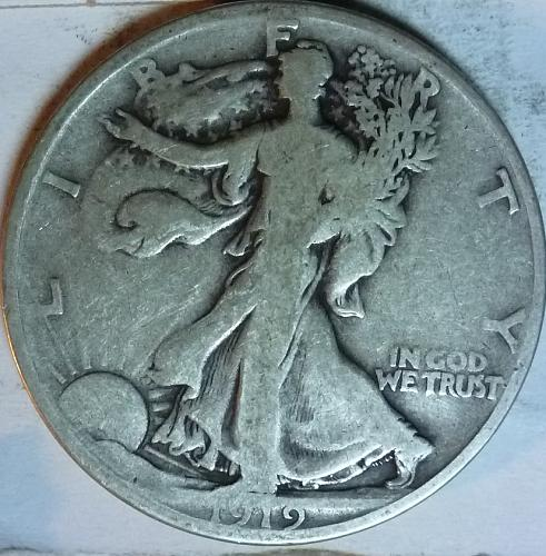 1919-D Very Good Walking Liberty Half Dollar  ( 1999 )
