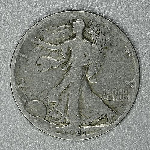 1921-S G-VG Walking Liberty Half, decent coin, tough early semi-key date
