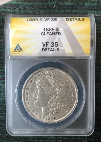 For sale a 1889 Philadelphia Morgan silver Dollar, I think it has  VAM-7 High 9