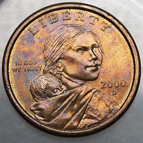 2000 D Sacagawea Dollar #4 Beautifully Toned