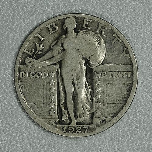 1927-S VG Quarter Dollar, attractive example of this very tough San Fran issue