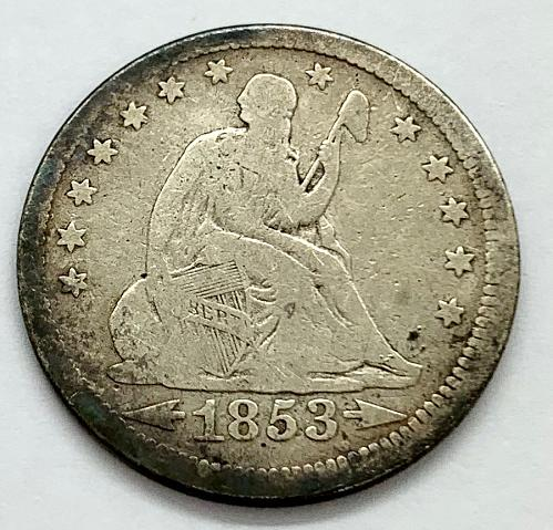 1853 Seated Liberty Quarter - Arrows and Rays
