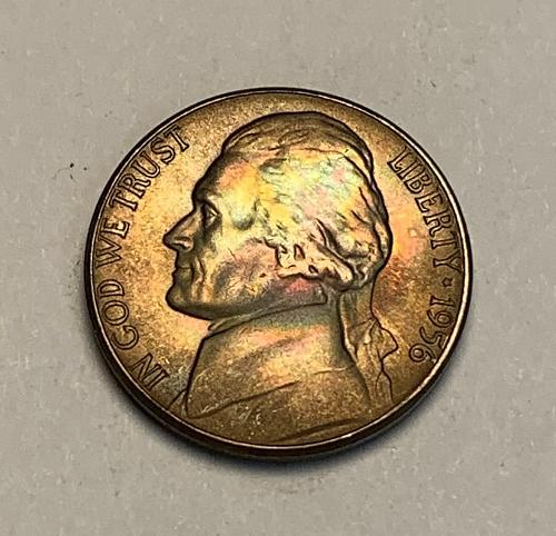1956 Toned Jefferson Nickle BU [SVB 7]
