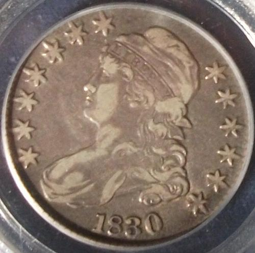 1830 Capped Bust Half Large 0 PCGS VF25