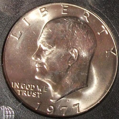1977D Eisenhower Dollar INB MS70 Full Strike