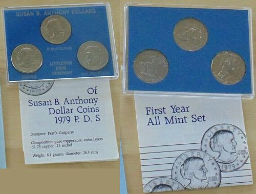 1979 PDS SET SUSAN B. ANTHONY First Year all mint set