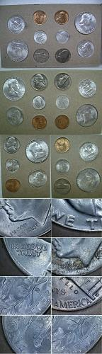 US 1953 PDS 15 Coin Set, Tone