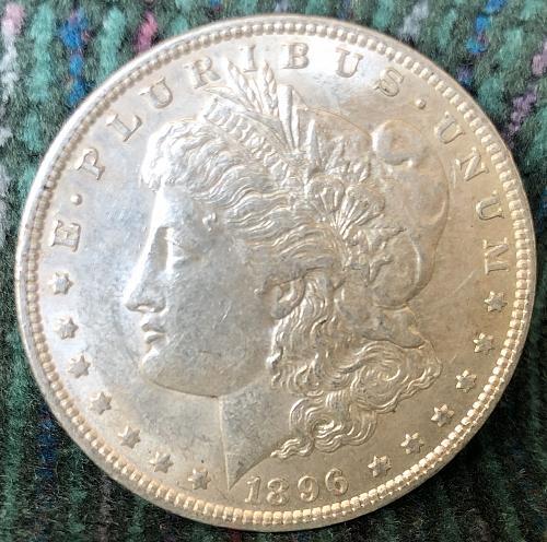 For sale a 1896 Philadelphia Morgan silver Dollar