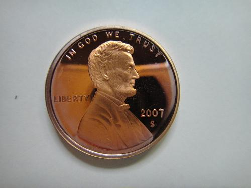 2007-S Lincoln Cent Proof-65 (GEM) RED