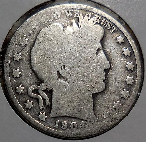 Barber Half Dollar 1904-P