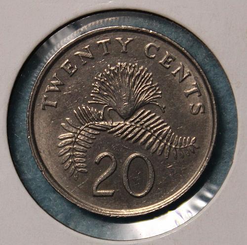 Singapore 1993 20 cents