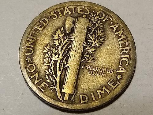 1920 P MERCURY HEAD DIME