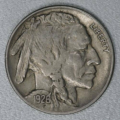 1926 Choice XF Buffalo Nickel, a nice attractive high end circulated example