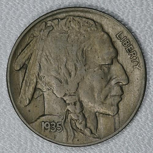 1935 Choice XF Buffalo Nickel, a nice attractive high end circulated example