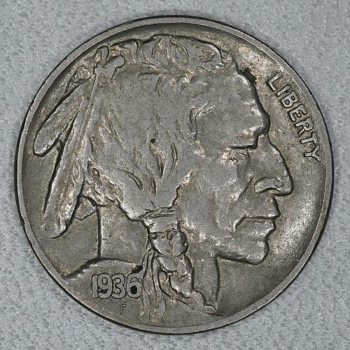 1936 Choice XF Buffalo Nickel #2, a nice attractive high end circulated example