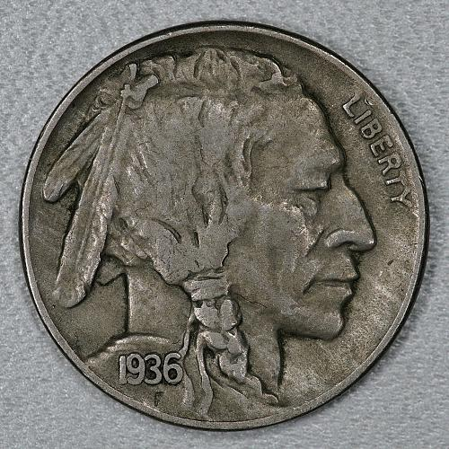1936-D Choice XF Buffalo Nickel, a nice attractive high end circulated example